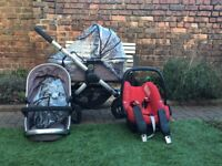 ICandy Peach Jogger - with car seat, carry cot and pram seat