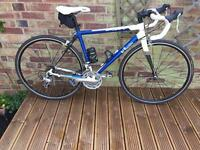 Road bike b'twin sport 2 with extras