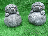 garden ornaments puppy with a ball £5