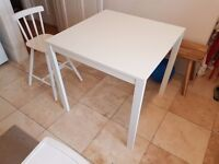 Kitchen table IKEA MELLTORP in white, great condition, bought in 2016, 75cmx75cm