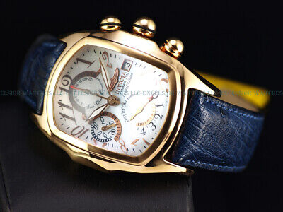 RARE Invicta Mens COSC Grand Lupah Swiss Made Valjoux 7750 Automatic MOP Watch