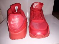 Nike air max 90 trainers b great for crepe city 2x perfect worn once bright red and lime green UK 6