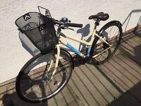 REAL Ladies 18'' Hybrid City Bike with basket