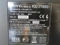 "Sony Bravia 37"" LCD digital HD ready TV"