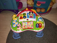 DISNEY Mickey Mouse Clubhouse activity table learing table ENGLISH-SPANISH