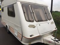 Two Birth Touring Caravan by Fleetwood, Immaculate and 100% Damp Free Throughout