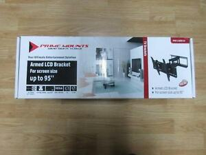 "Universal full motion TV wall mount for up to 95"" TV"