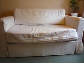 White Ikea double sofa bed in good condition