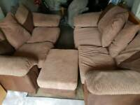 3 seater 2 seater and puff