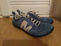 Merrell men's trainers/walking shoes size 8 blue
