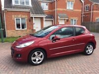 PEUGEOT 207 SPORT DIESEL, PARKING SENSORS, BLUETOOTH, ALLOYS, MOT 12 MONTHS