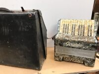 Antique Cased accordion