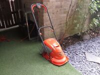 Flymo hover lawnmower with grassbox