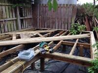 Free Decking for disassemble and pick up! (NO LONGER AVAILABLE, SORRY)