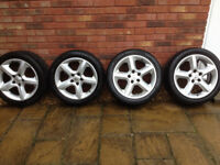 Vauxhall Alloy wheels with tyres