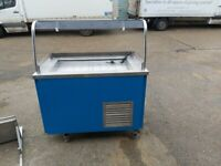 commercial refrigerated food trolley cold food serving outdoor display counter