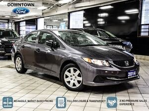 2014 Honda Civic Sedan DX, Power windows, Car Proof Verified