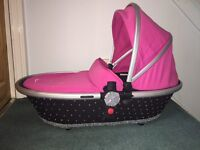 Silver cross surf carrycot pink and diamontes