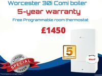 Worcester 30I combi boiler replacement ( 5 year warranty ) £1450