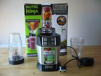 Nutri Ninja BL480UK 1000w Extraction Blender with Auto-IQ, Silver & Black