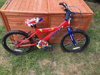 """Kids bike, red Thunder concept jnr - 18"""" wheels for age 6-8"""