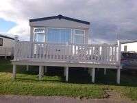 Static caravan, sited at Southerness Holiday Park, Dumfries & Galloway