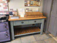 Butcher's blocks free-standing larders and other kitchen cabinets etc.