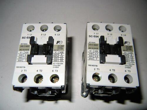 FUJI ELECTRIC SC-E04 CONTACTOR  Coil Voltage 220-240 V @ 60, 50 Hz, Lot 2 pcs