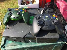 Xbox with two controls