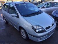 2003/53 RENAULT SCENIC 1.4 16V FIDJI 5 DOOR,SILVER, ECONOMICAL TO RUN,DRIVES WELL