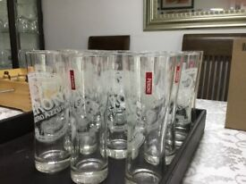 Peroni half pint beer glassesX16