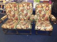 2 seater and chair conservatory set ideal for upcycling