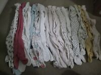 Girls baby clothes bundle 0-3 months