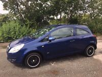 Vauxhall Corsa/Blue/Alloy Wheels/Bluetooth sound system/good condition/cheap insurance