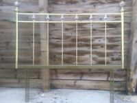 This is a vintage style headboard, will fit a double bed. Collection only.