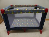 Baby Weavers Travel Cot and Mattress with Storage Bag, Hardly Used and as New