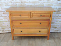 Willis and Gambier Wooden Chest of Drawers with freestanding mirror (Delivery)