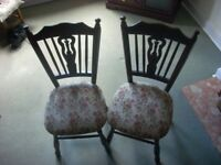 4 CARVER / DINNING ROOM CHAIRS . VGC. HEAVY .