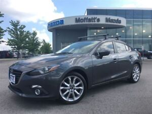 2014 Mazda MAZDA3 GT LEATHER, SUNROOF, HEATED SEATS, BACKUP CAME