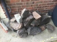 Free - A selection of rocks to make a small rockery, collection only