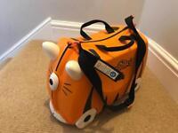 Trunki Tipu Tiger Ride-Trunki Ride-On Suitcase - Black/Orange