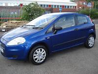 FIAT PUNTO ACTIVE GRANDE / 1200cc / 2006 / ELECTRIC BLUE SPECIAL / FULL MOT / WARRANTY INCLUDED