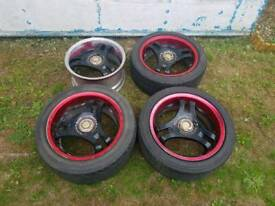 Super advan racing sa3r alloy wheels, rare Japanese wheels