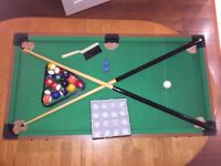 Children's table top pool table