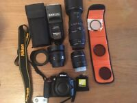 Nikon D3300 DSLR With 3 Lenses and extras. Excellent Condition