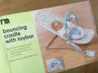 Mothercare bouncing cradle with toybar 99% new