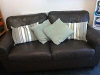 Brown leather IKEA sofa in reasonable condition. Free if you can collect it from us.