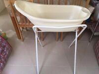 Baby Bath (with plug) & Folding Stand