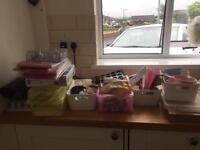 Huge amount of cake decoration equipment