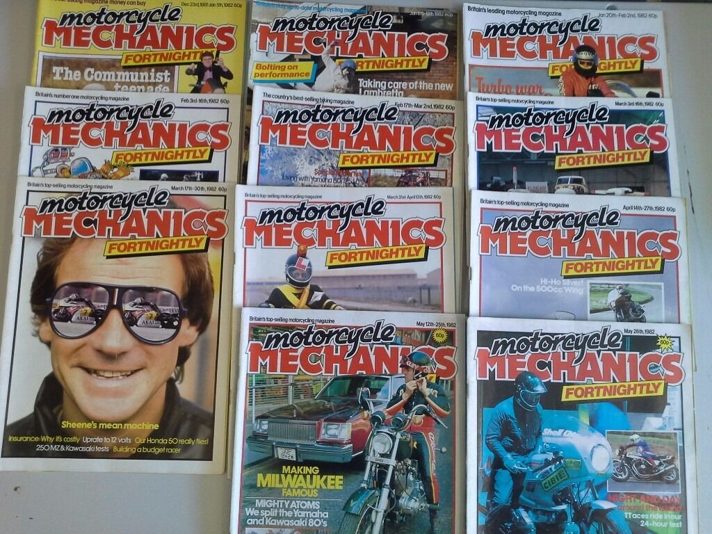 Motorcycle Mechanic, Practicle Mechanic's, Mechanic's & the Biker from the 1980's + more